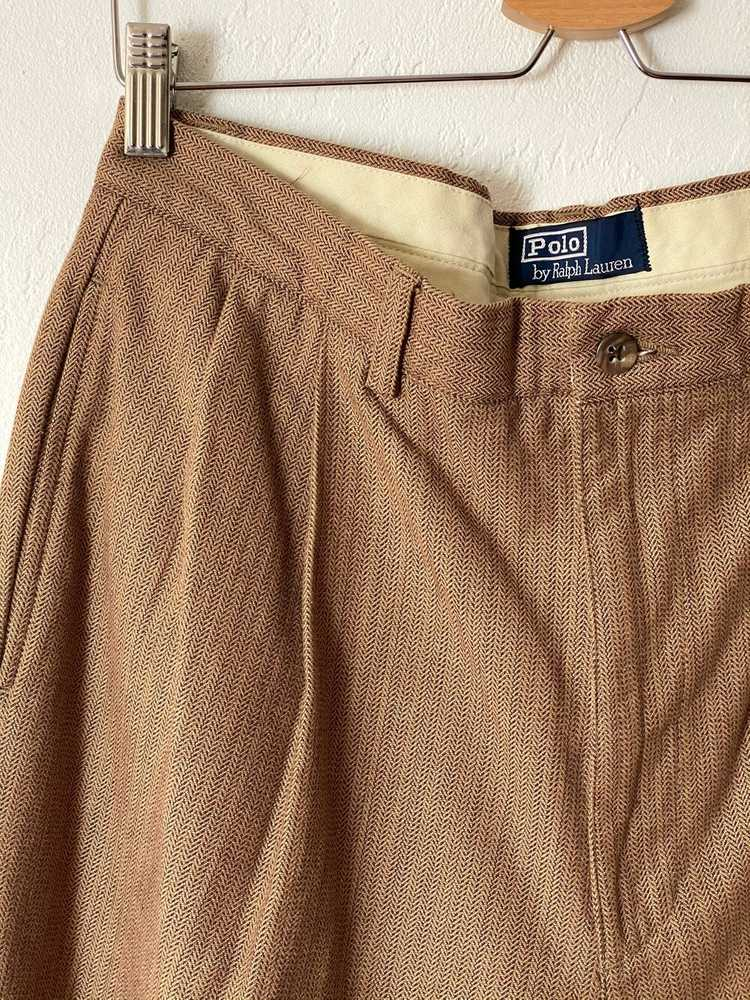1980s 90s Polo by Ralph Lauren Tan and Brown Herr… - image 2