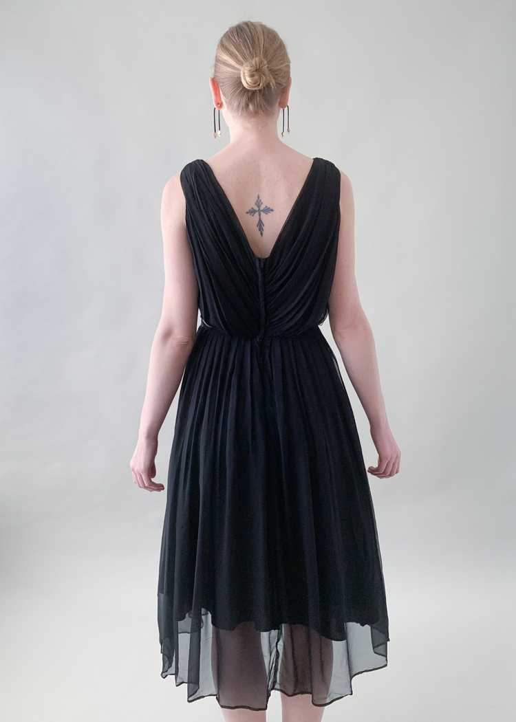 Vintage 1950s Gigi Young Black Chiffon Dress - image 5