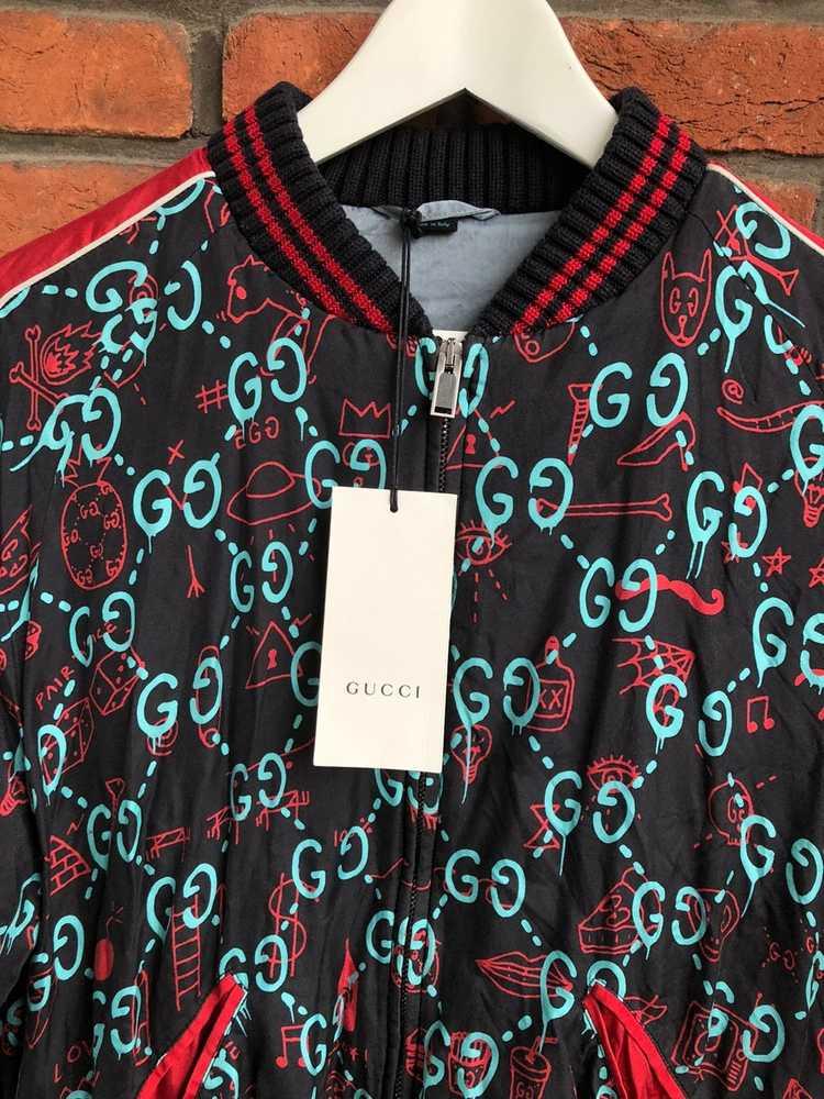 Gucci Gucci Ghost Silk Bomber - image 12
