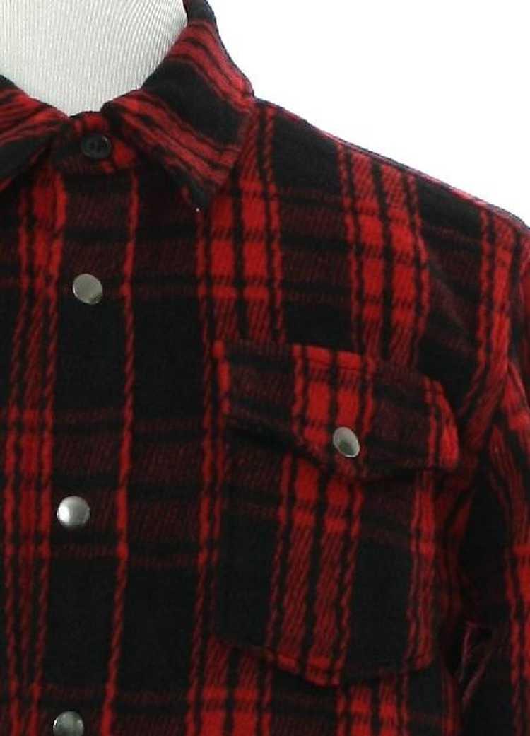 1990's Mens Fleece Wool Blend Shirt Jacket - image 2