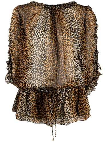 Dolce & Gabbana Pre-Owned 1990s leopard print blou