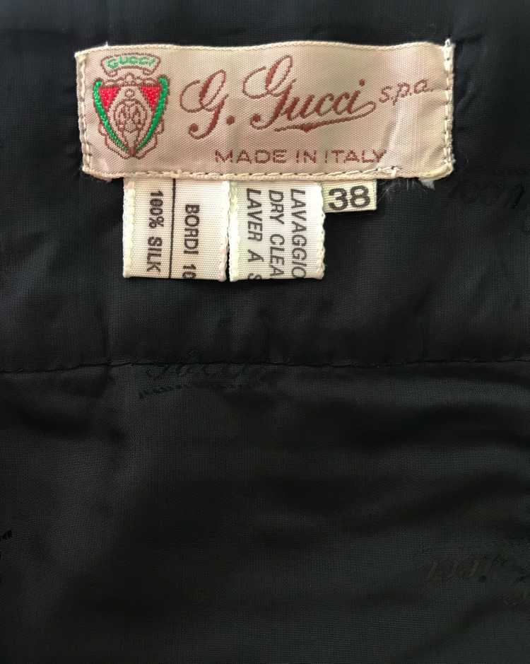 Gucci 1970s Black Smoking Two Piece Suit - image 10
