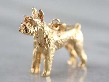 Gold Scottish Terrier Pendant