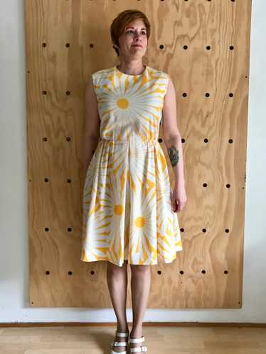 1960s Daisy Print Dress (M)