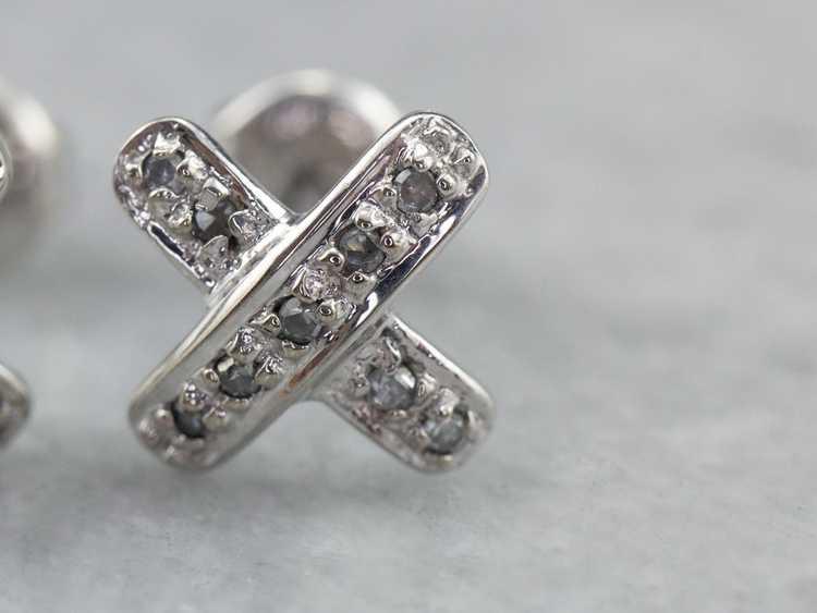 Diamond X Stud Earrings - image 6