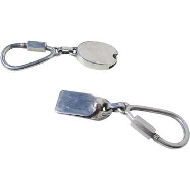 Sterling Silver Double Key Chain