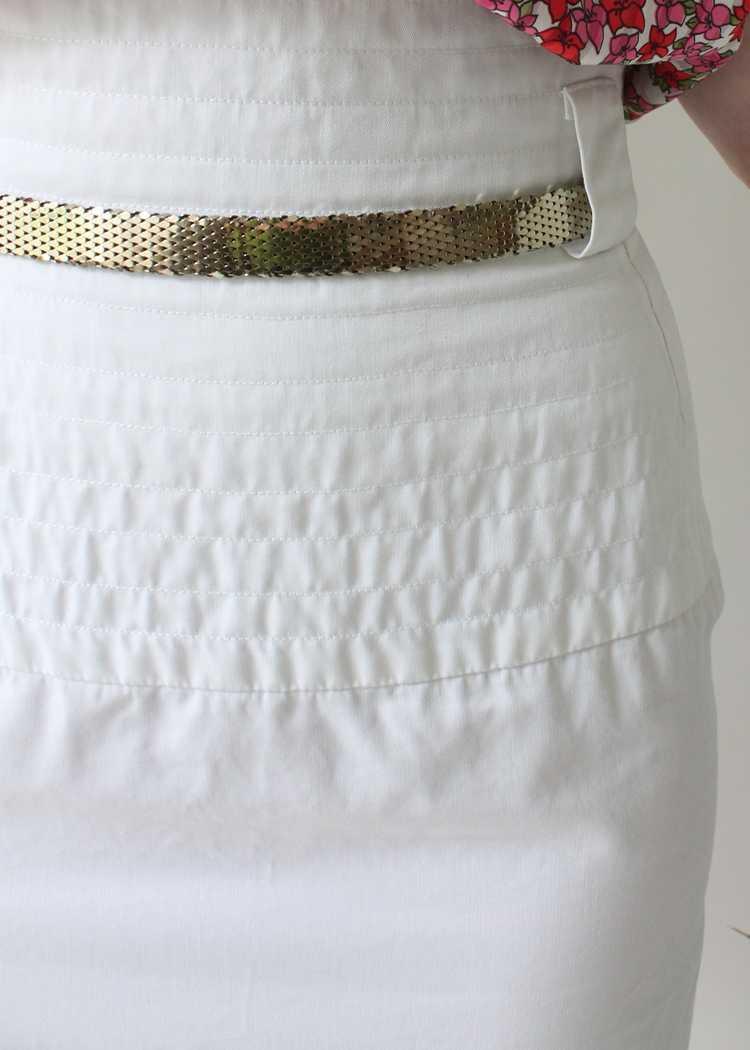 Vintage 1980s YSL White Skirt - image 3