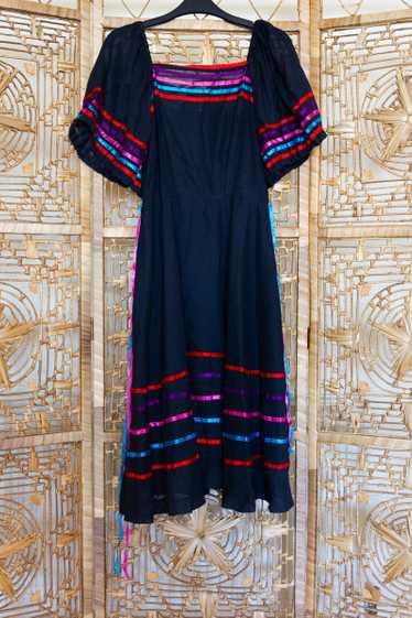 Ribbon Striped Dress