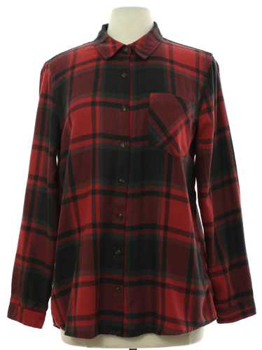 1990's Pink Rose Womens Flannel Shirt