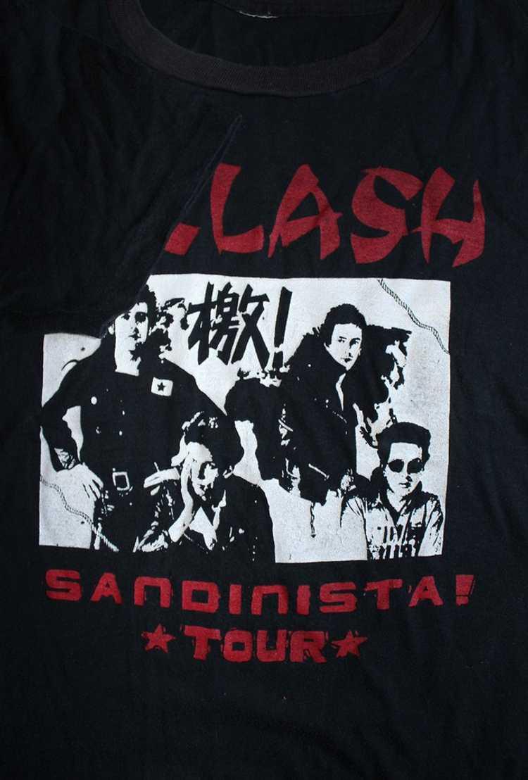 Vintage 80's The Clash Sandinista Tour T-Shirt - image 4