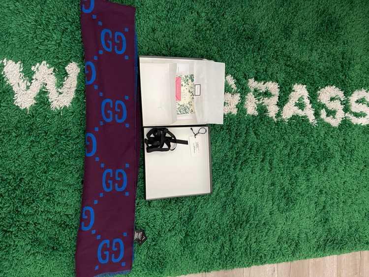 Gucci Gucci GG jacquard wool silk scarf - image 6