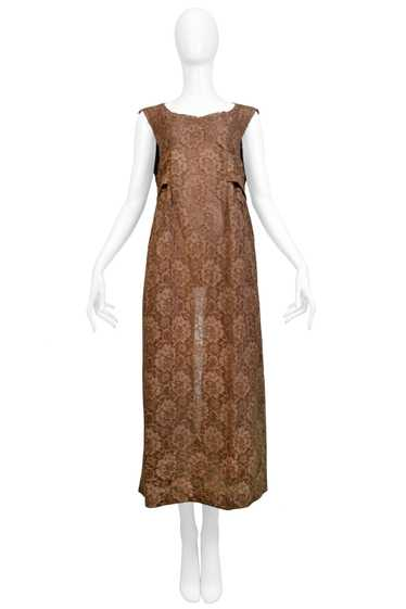 CDG BROWN LACE APRON DRESS