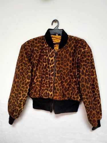 Art × Designer × Streetwear Bomber Leopard Style Z