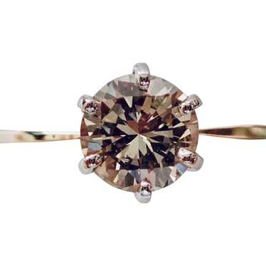 Diamond Ring .67ct., FANCY COLOR Natural Champaign