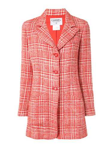Chanel Pre-Owned 1997 check tailored coat