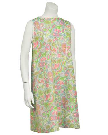 Green and Pink Paisley Paper Dress