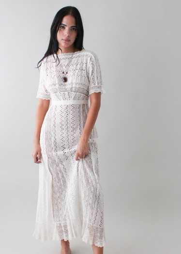 Vintage 1910s Lace Lawn Dress