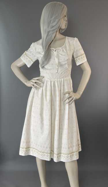 Custom Boutique Dress   1950s Champagne Frock   Co