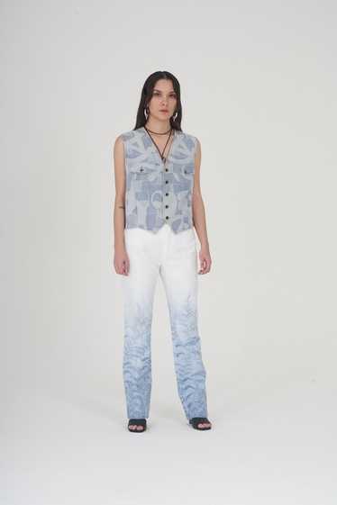 Vintage 90s Cavalli Floral Faded Jeans
