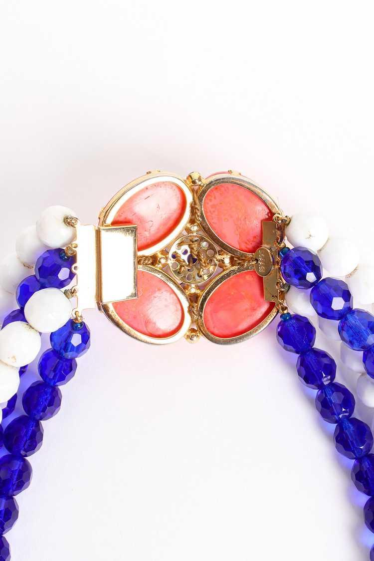 ARNOLD SCAASI Multi-Strand Cabochon Bead Collar - image 10
