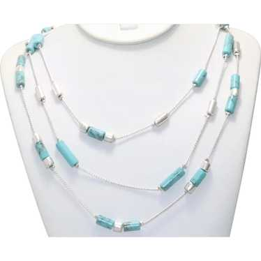 Vintage Kenneth Cole Turquoise Paste Necklace