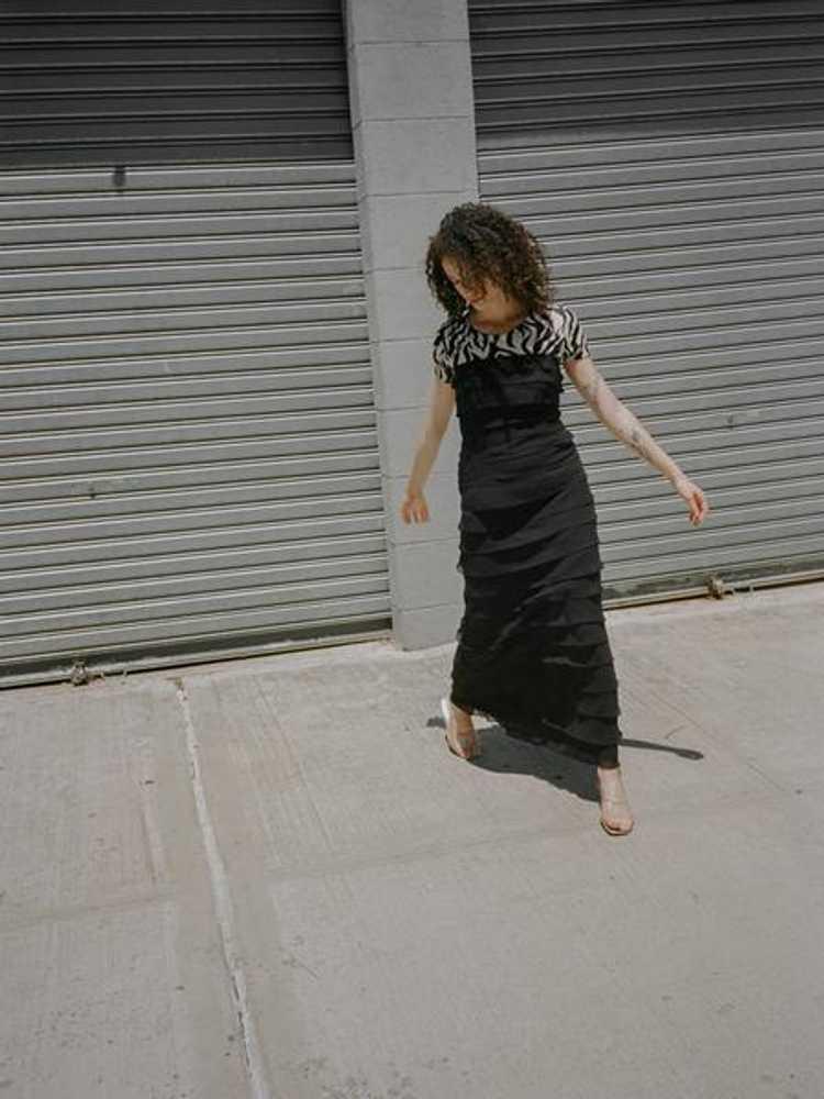 Tiered Silk Chiffon Dress - image 4