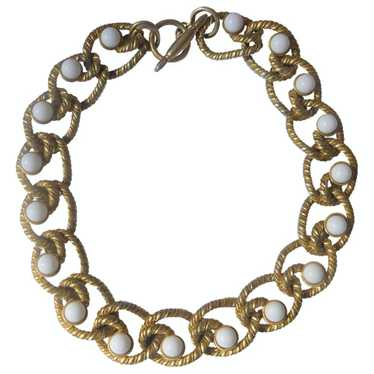 Kenneth Jay Lane Gold gold and steel necklace for