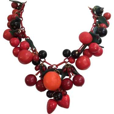 Colorful Cornucopia of Fruit Necklace