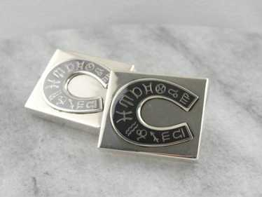 The Zodiac in Siam: Niello Sterling Siam Cufflinks