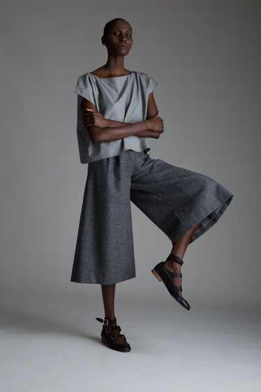 Vintage Valentino Gray Wool Gauchos