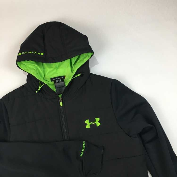 Details about  /Under Armour Mens Maverick Lightweight Jacket Small Black Grey Style 1280767