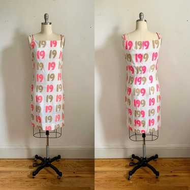 "1950s ""Nineteen"" Linen Wiggle Dress"