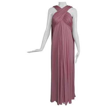 Vintage Estevez Pink Matte Jersey Goddess Gown 197