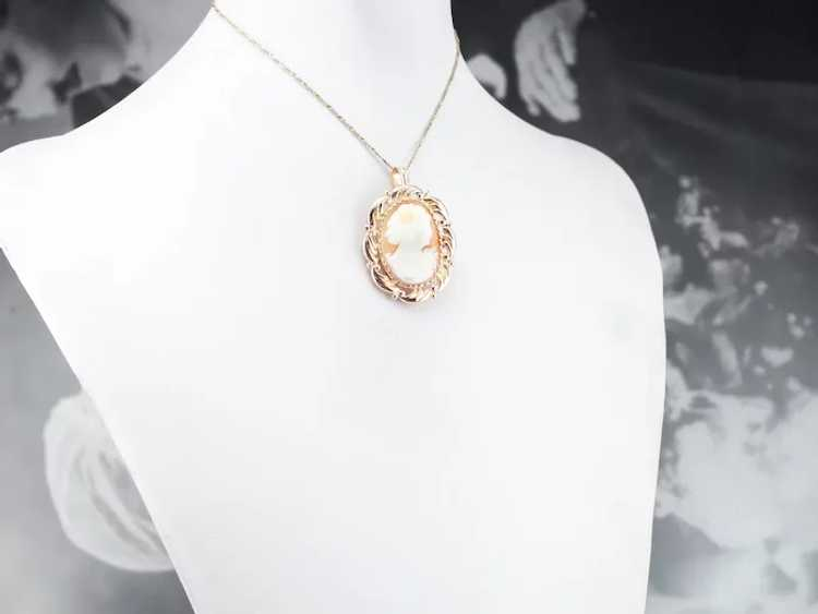 Mid Century Cameo Pendant or Pin - image 10
