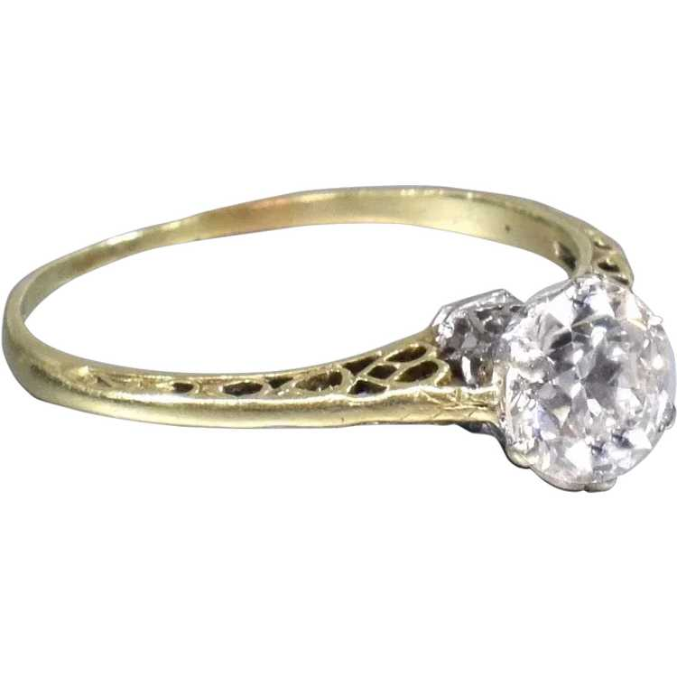 Victorian Diamond Engagement Ring - image 1