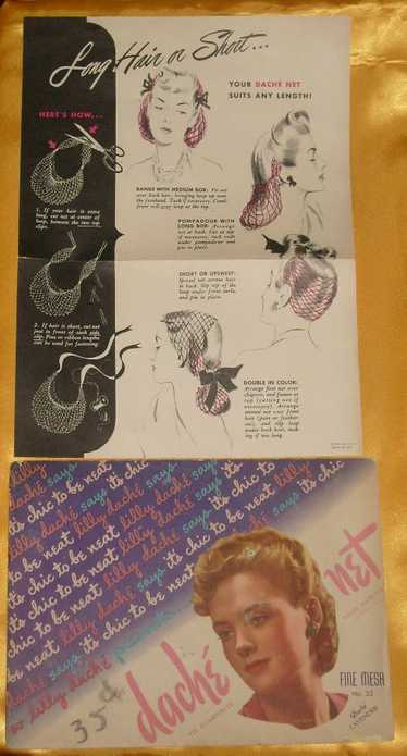 Vintage Lilly Dache Fine Mesh Hairnet Lavender