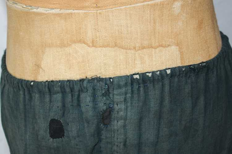 1930s 40s Japanese Linen Patched Workwear Shorts - image 4