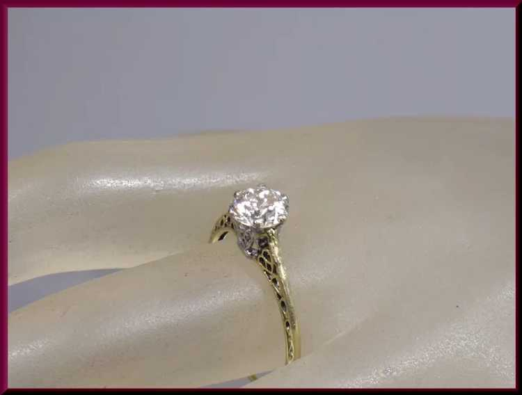 Victorian Diamond Engagement Ring - image 5