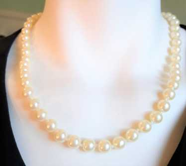 Avon Pearl Necklace - Vintage 18 Inch - Faux Pearl