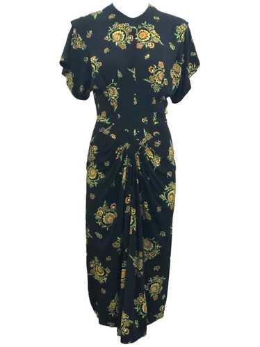 Dorothy O'Hara 40s Rayon Print Dress