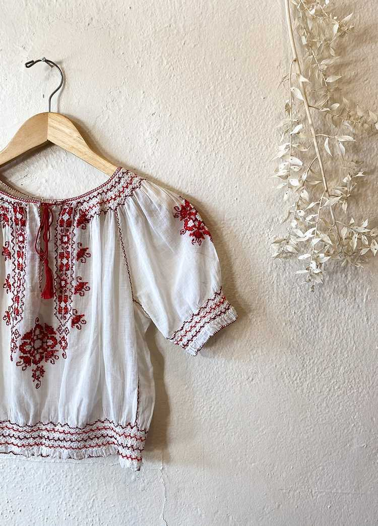 1930's Hungarian Embroidered Blouse - image 2