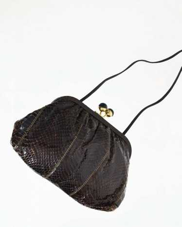 Vintage Brown Snakeskin Purse