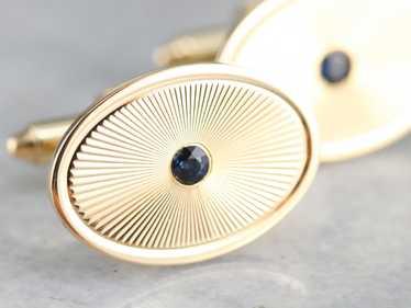 Mid Century Sapphire Cufflinks