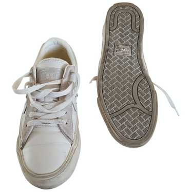 Converse White Leather Trainers for Women 37 EU