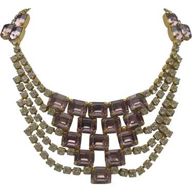 Rhinestone Cocktail Necklace c1980