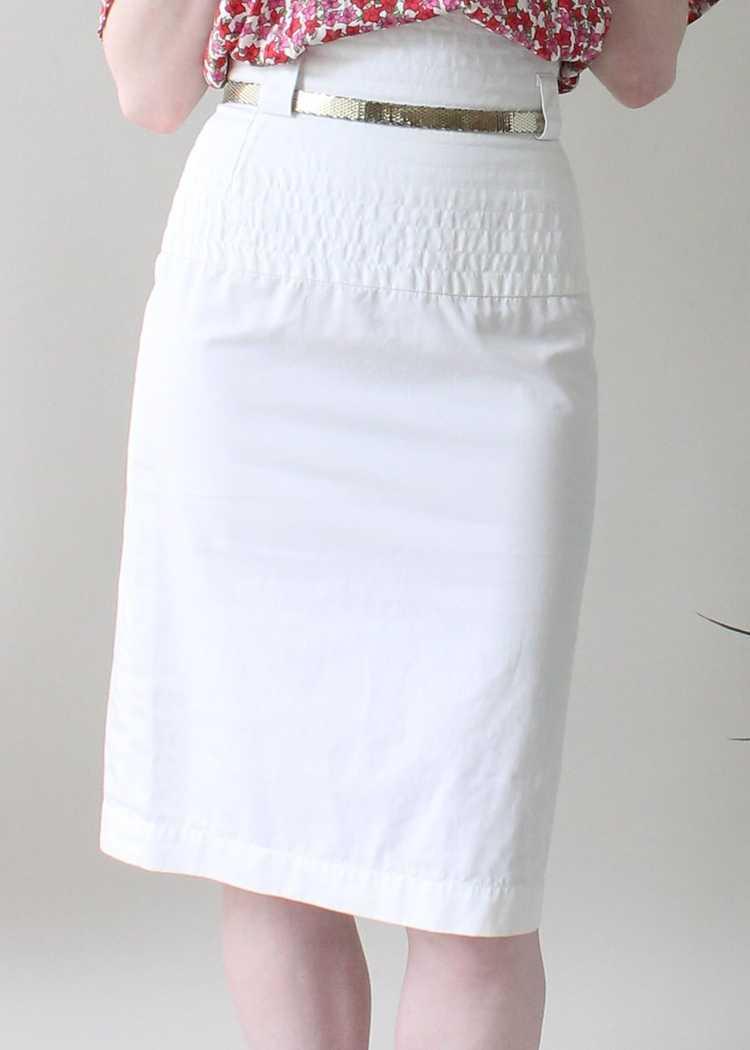 Vintage 1980s YSL White Skirt - image 2