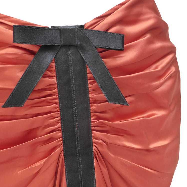 Lanvin Silk skirt with ruffles - image 4