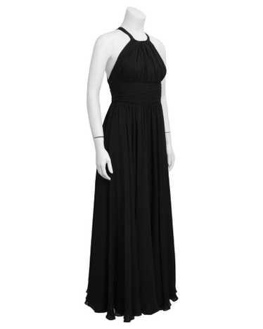 Galanos Black Silk Chiffon Gown