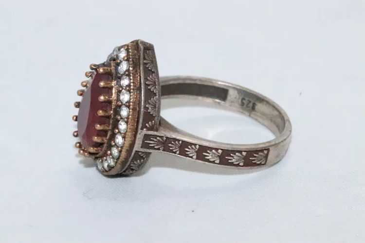 Sterling Silver Ruby Ring - image 4