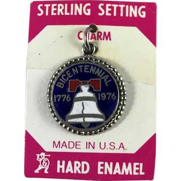 Sterling Silver Bicentennial Liberty Bell Charm on